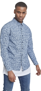 Urban Classics TB2199 - Printed Flower Denim Shirt