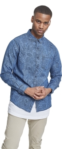 Urban Classics TB2202 - Printed Paisley Denim Shirt