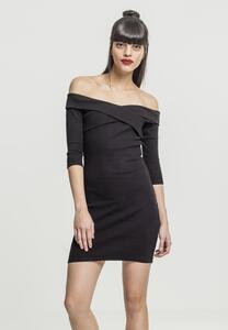 Urban Classics TB2218 - Ladies Off Shoulder Cross Rib Dress