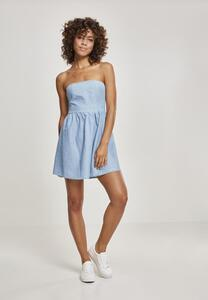 Urban Classics TB2239 - Ladies Denim Bandeau Dress