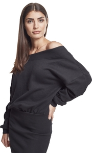 Urban Classics TB2336 - Ladies Sweat Off Shoulder Dress