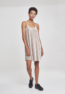 Urban Classics TB2352 - Ladies Velvet Slip Dress