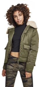 Urban Classics TB2380 - Ladies Sherpa Hooded Jacket