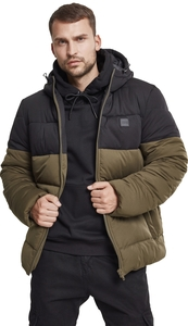 Urban Classics TB2425 - Hooded 2-Tone Puffer Jacket