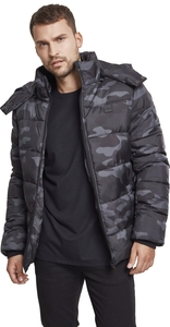 Urban Classics TB2426 - Hooded Camo Puffer Jacket