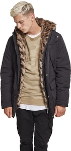 Urban Classics TB2431 - Hooded Faux Fur Parka
