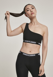 Urban Classics TB2588 - Women Asymmetric Logo Bra