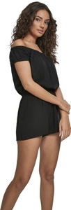 Urban Classics TB2606 - Ladies Off Shoulder Short Jumpsuit