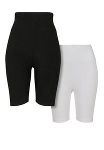 Urban Classics TB2632A - Ladies High Waist Cycle Shorts 2-Pack