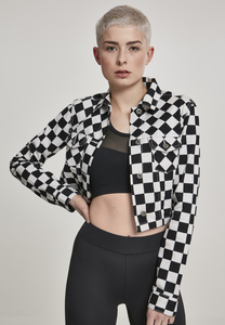 Urban Classics TB2654 - Ladies Short Check Twill Jacket