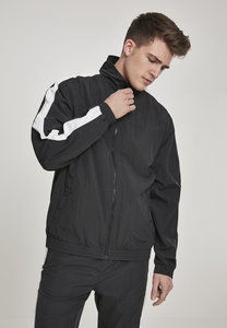 Urban Classics TB2743 - Striped Sleeve Crinkle Track Jacket