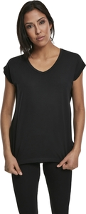 Urban Classics TB2831 - Ladies Round V-Neck Extended Shoulder Tee
