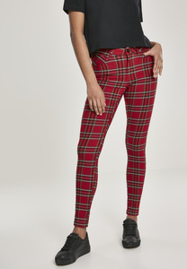 Urban Classics TB2848 - Ladies Skinny Tartan Pants