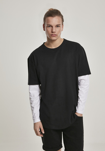 Urban Classics TB2887 - Oversized Shaped Double Layer LS Tee