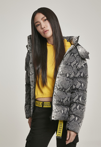 Urban Classics TB3068 - Ladies AOP Hooded Puffer Jacket