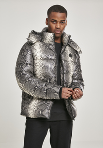 Urban Classics TB3155 - Hooded AOP Puffer Jacket