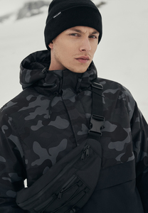 Urban Classics TB3159 - Giacca Pull Over Camo Mix