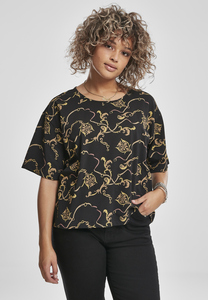 Urban Classics TB3219 - Ladies AOP Luxury Print Short Oversized Tee