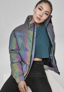 Urban Classics TB3244 - Ladies Iridescent Reflectiv Puffer Jacket