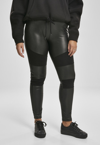 Urban Classics TB3246 - Damen Kunstleder-Tech-Leggings