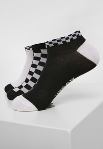 Urban Classics TB3387 - Turnschuh-Socken Schecks 3er-Pack