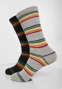 Urban Classics TB3395 - Rainbow Stripes Socks 2-Pack