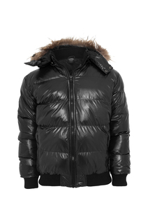 Urban Classics TB341 - Hooded Bubble Fur Blouson