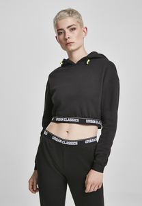 Urban Classics TB3417 - Ladies Logo Waistband Cropped Hoody