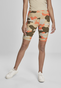 Urban Classics TB3423 - Women High Waist Camo Tech Cycle Shorts