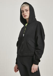 Urban Classics TB3426 - Ladies Short Worker Zip Hoody