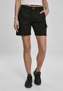 Urban Classics TB3431 - Ladies High Waist Cargo Shorts