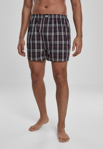 Urban Classics TB3543 - Woven Plaid Boxer Shorts 2-Pack