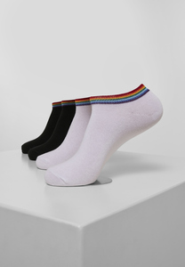 Urban Classics TB3605 - Rainbow Socks No Show 4-Pack