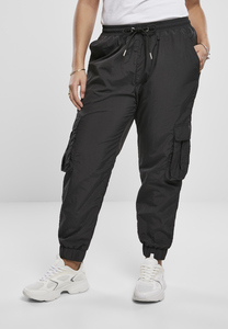 Urban Classics TB3636 - Ladies High Waist Crinkle Nylon Cargo Pants