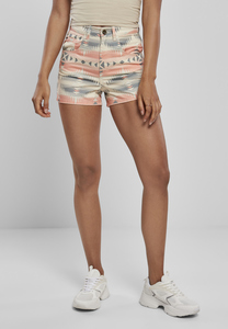 Urban Classics TB3663 - Ladies Inka Highwaist Shorts