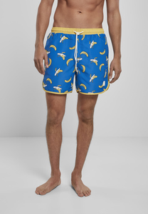 Urban Classics TB3706 - Pattern Retro Swim Shorts