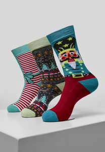 Urban Classics TB3746 - Christmas Nutcracker Socks 3-Pack