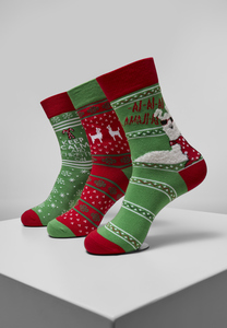 Urban Classics TB3747 - Christmas Lama Socks 3-Pack