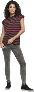 Urban Classics TB3760 - Ladies Y/D Stripe Tee