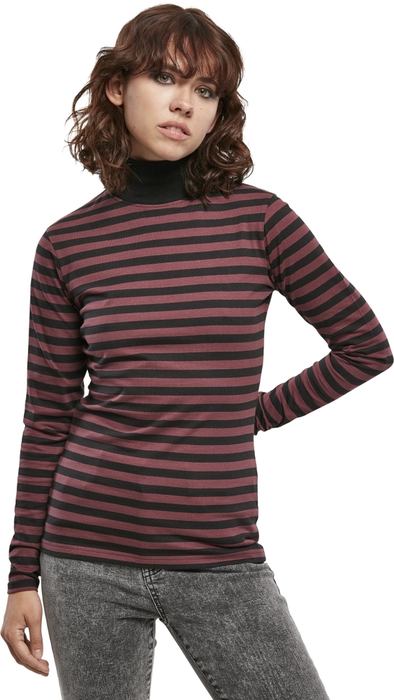 Urban Classics TB3762 - Ladies Y/D Turtleneck L/S