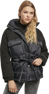 Urban Classics TB3768 - Ladies Sherpa Mix Puffer Jacket
