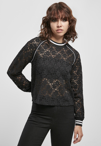Urban Classics TB3771 - Ladies Short Lace College Crew