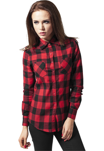 Urban Classics TB388 - Ladies Checked Flanell Shirt