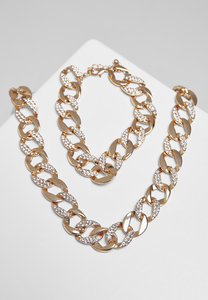 Urban Classics TB4052 - Basic Diamond Necklace And Bracelet Set