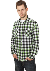 Urban Classics TB411 - Tricolor Checked Light Flanell Shirt