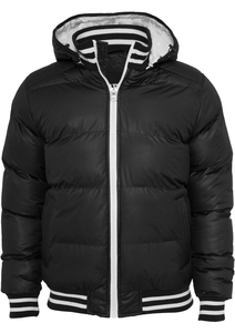 Urban Classics TB431 - Shiny 2-tone Hooded College Bubble Jacket