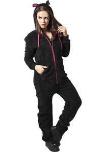 Urban Classics TB449 - Ladies Teddy Jumpsuit