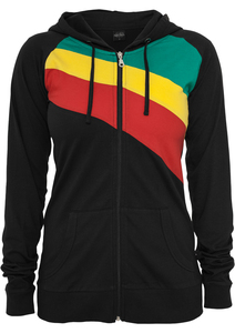 Urban Classics TB467 - Ladies 3 Color Jersey Ziphoody