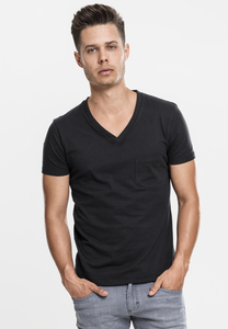 Urban Classics TB497 - V-Neck Pocket Tee