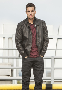 Urban Classics TB564 - Leather Imitation Jacket